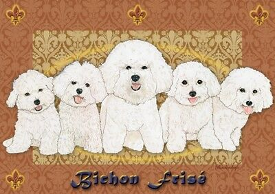 Bichon Frise Blank Note Card