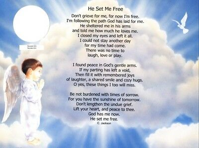 Personalized Poem for Loss of a Child 6 Designs to Choose From