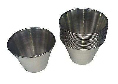 Set of 12 Stainless Steel Sauce Cups, 4 oz
