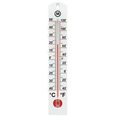 Vertical Outdoor Thermometer 16 Inch Wide Range Wall Mount Large Numbers