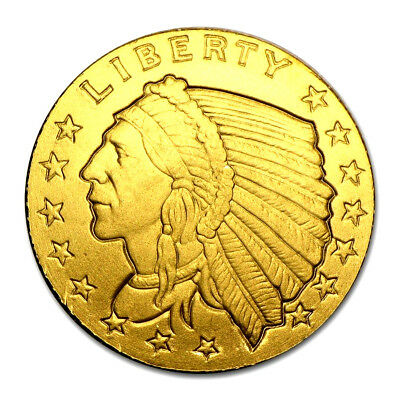 1/10 Ounce .9999 Fine Gold Incuse Indian Head Bu Free Shipping