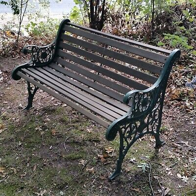 Vintage CAST IRON Timber Bench Seat  Local Delivery available