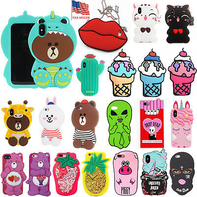 iPhone 7 Plus/8 Plus 5.5 AT&T Cartoon X Care Case Animal Horse Soft Character 3