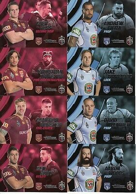 2018 Nrl Traders State Of Origin Stars Trading Cards - Nsw Blues & Qld Maroons