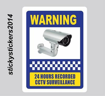 Sticker Warning 24Hrs Recorded CCTV 240x200mm Pack (10) Offer & Fast Delivery