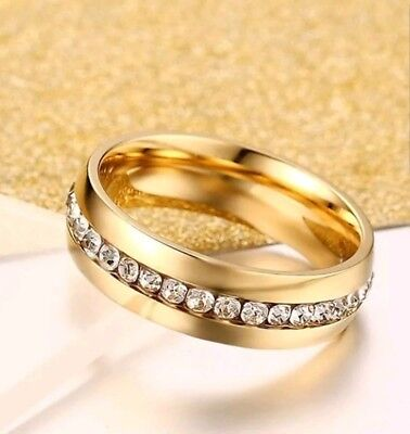 Yellow Gold Filled Men ,Women Wedding 9ct Band Comfort Fit Ring