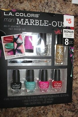 La colors mani marble ous do it yourself diy nail design kit 8 la colors mani marble ous do it youself nail design kit set 8pc nwt solutioingenieria Image collections