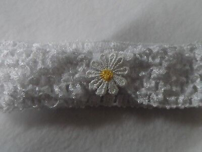 baby infant toddler girl ,soft stretch crochet headband hairband flower bow