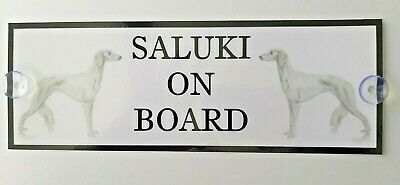 Saluki On Board Car Sign
