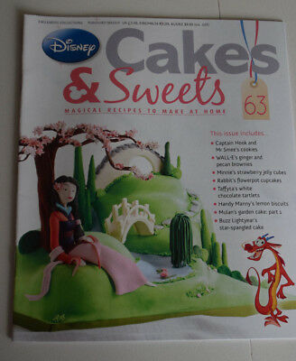 Disney Cakes and Sweets Magazine Issue 63 (Magazine Only/No Gift) Free P+P
