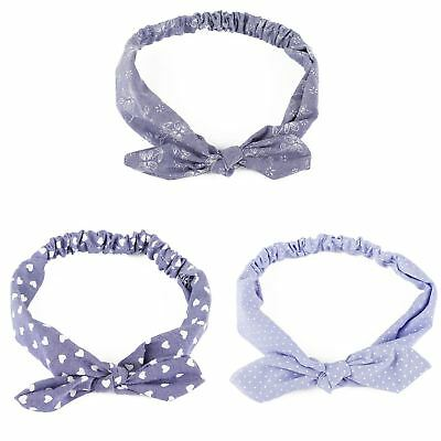 Ladies 100% Cotton Rockabilly Wire Twisted Knot Headband Hairband Wrap Scarf