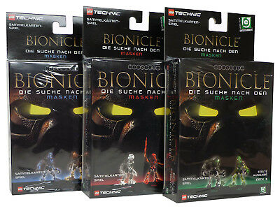 Lego Bionicle Set - 3 Decks - Deutsch - mit Bionicle Masken Sammel-Karten NEU
