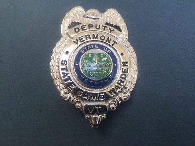 VERMONT DEPUTY STATE Game Warden Badge - Blackinton HMK
