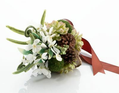 Moss Wedding Ceremony Bridal Flower Bouquets