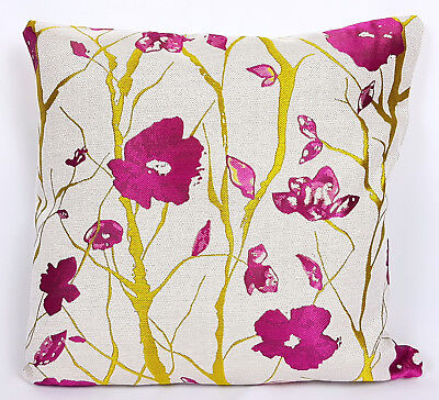 """Saybil Pink and Gold Luxury Floral Design Cushion Cover 18"""" x 18"""" 45cm x 45cm"""