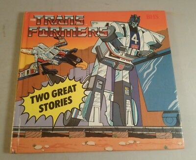 Transformers book BHS Hardback First Printing Hasbro 1986 Book Two Great Stories