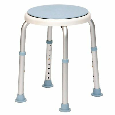 Drive DeVilbiss Heavy Duty Rotating Rounded Bath Shower Stool with Swivel Seat