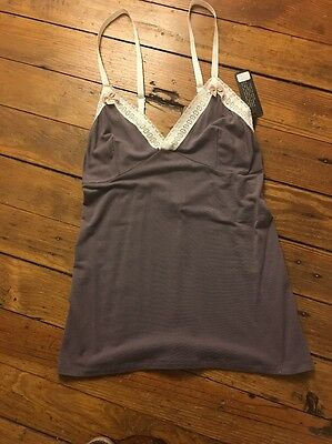 BNWT Between the sheets Come Out & Play Cami Size L Color Gray