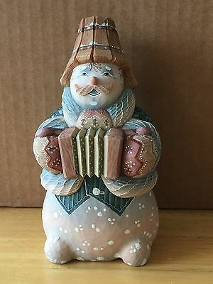 G. Debrekht MR. SNOWMAN with accordion, 2002 Ltd. Ed. 311/1200, #54280