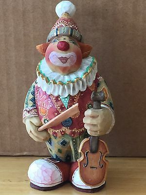 G. Debrekht FIDDLIN' FREDDY circus clown with violin, 2003 Ltd. Ed. NIB #58310-4
