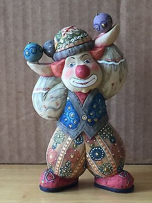 G. Debrekht CLOWNING AROUND circus clown, 2003 Ltd. Ed. 229/1500 NIB #58310-1