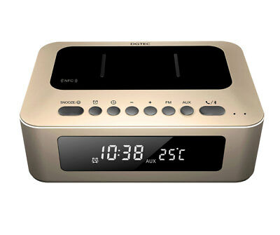 BRAND NEW DGTEC CLOCK RADIO WITH Qi WIRELESS CHARGING BLUETOOTH DUAL USB PORTS