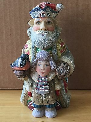 G. Debrekht FATHER CHRISTMAS WITH BOY, 2004 Ltd. Ed. 396/1500, NIB #51782-2
