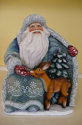 G. Debrekht GUARDIAN SANTA Wilderness Santa with Deer, 2nd Edition. # 51142 NEW