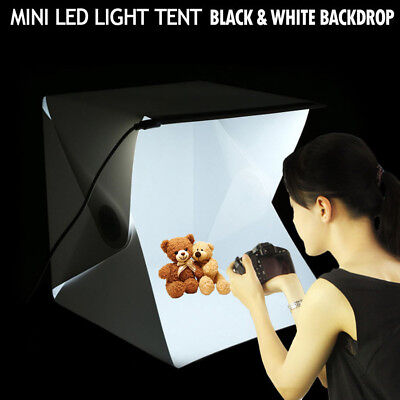 Photo Studio Soft LED Light Box Photography Lamp Backdrop Mini Folding Portable