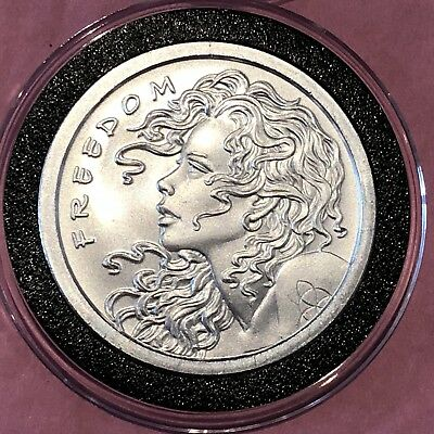 2013 Freedom Girl BU Collectible Coin 1 Troy Oz .999 Fine Silver Ag Bullet Round