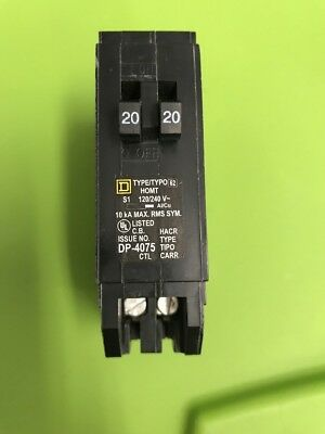 Homelite Circuit Breaker 20A 120/240V Square D Single Pole Tandem
