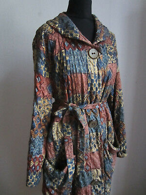 TRUE VINTAGE 50er Bademantel Morgen Stepp Mantel Damen Mode ...