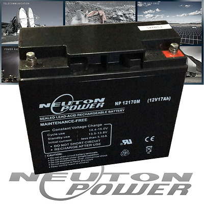 Neuton Power 12V 17Ah AGM Sealed Lead Acid Alarm Standby Battery >18Ah 20Ah