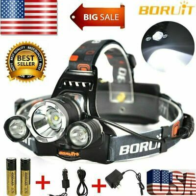 6000Lumens T6 LED Zoomable Headlamp Rechargeable 18650 Headlight Head Lamp LOT