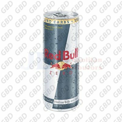 RED BULL CANS ZERO 250ML (x24)