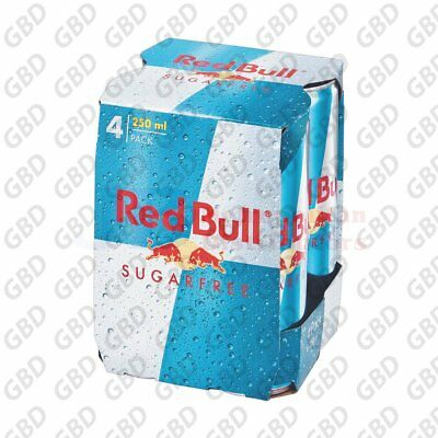 RED BULL CANS SUGAR FREE 4 PACK 250ML (x6)