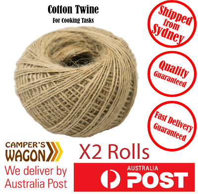 Jute Twine Kitchen Cooking Butchers Meat Trussing String Tie Craft 200m