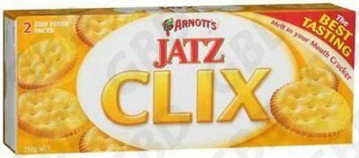 18x ARNOTTS CRACKERS JATZ CLIX 250G