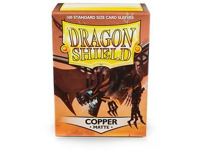 Dragon Shield Mat Copper 100 Protective Sleeves Cases Standard Card Holder