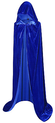 Txian Extra Long Hooded Velvet Cloak Halloween Christmas Fancy Dress Cape
