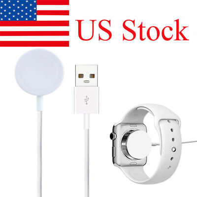 US 38/42mm Magnetic Charger Charging Cable for Apple Watch Series 1 2 3 iWatch