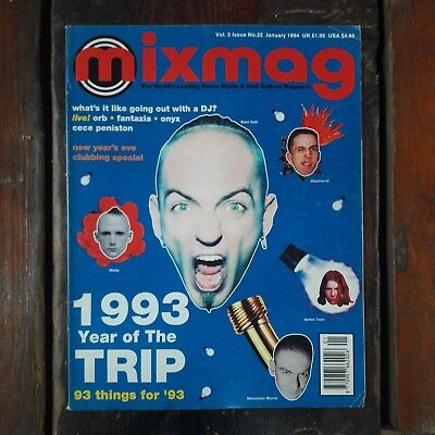 """Mixmag Issue No 32 January 1994 - """"1993 Year of The Trip"""""""