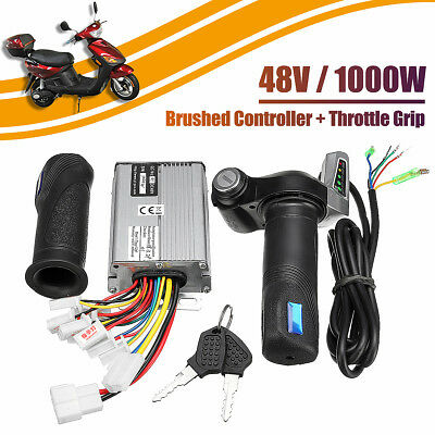 48V 1000W Electric Bike Motor Brushed Controller Speed And Throttle Twist Grips