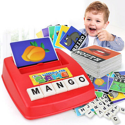 BL_ Children English Spelling Alphabet Game Early Learning Educational Toy Gift