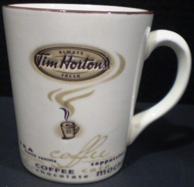 Tim Hortons Mug Types of Coffee Limited Edition 2005