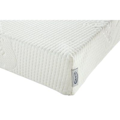 Natural Organic Foam Crib and Toddler Mattress by Graco, White, Standard Crib