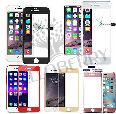 5D Curved Edge to Edge Tempered Glass Screen Protector Cover Iphone X/8/8+/7/7+