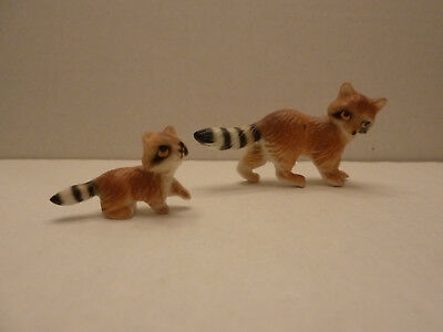 Vintage Miniature Set of 2 China Raccoon