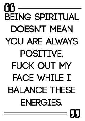 FUNNY OFFENSIVE ATTITUDE NOVELTY quote positive poster picture print wall art