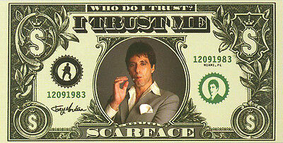 Scarface Tony Montana I trust Me Fiber Reactive Beach/Bath Towel 30x60 Inches
